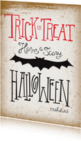 Halloween kaarten - Have a scary Halloween