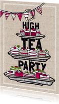 High tea party uitnodiging
