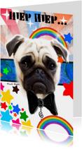 Verjaardagskaarten - Hond in pak verjaardag