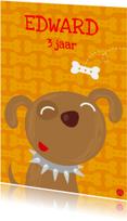 Verjaardagskaarten - Hondje vrolijk