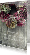 Hortensia's condoleancekaart