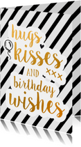 Hugs, kisses and birthday wishes