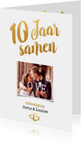 Jubileum 10 jaar samen goud - BK