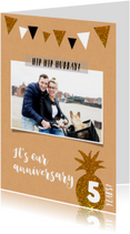 Jubileumkaart bij elkaar foto