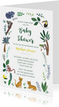 Jungle Baby Shower uitnodiging