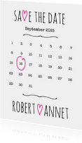 Kalender Save the Date wit- BK