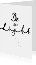 Kerstkaart - Be the Light