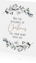 Kerstkaart Blessings of Christmas