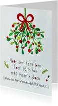 Kerstkaart CliniClowns mistletoe