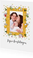 Kerstkaarten - Kerstkaart - foto piepkleine engeltjes