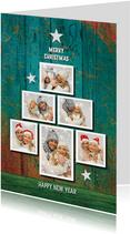 Kerstkaarten - Kerstkaart fotocollage trendy kerstboom