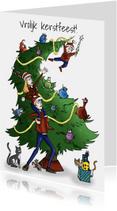 Kerstkaarten - Kerstkaart gezin