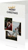 Kerstkaarten - Kerstkaart gouden stippen