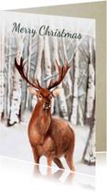 Kerstkaarten - Kerstkaart Groot hert