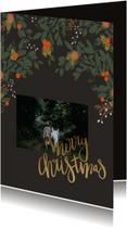 Kerstkaart kerstblaadjes - HM