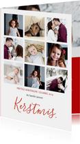 Kerstkaarten - Kerstkaart Kerstmis elegante letters collage