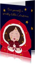 Kerstkaarten - Kerstkaart kerstvrouw CliniClowns