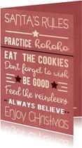 Kerstkaarten - Kerstkaart Santa's rules