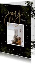 Kerstkaarten - Kerstkaart zwart dennentakjes
