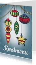 Kerstmis menukaart