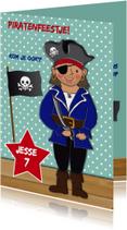 Kinderfeest piraat blauw
