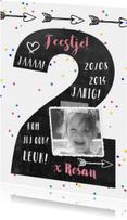 Kinderfeestje confetti foto 2 jaar
