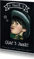 Kinderfeestje foto krijt tekst
