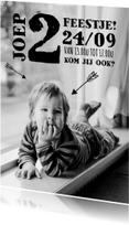 Kinderfeestje foto stoer pijl