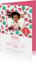 Kinderfeestje fruit watermeloen verjaardag