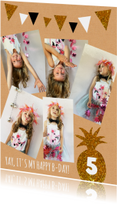 Kinderfeestje glitter foto