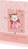 Kinderfeestje - vrolijk meisje in roze jurkje