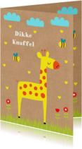 Kinderkaart giraf kraft