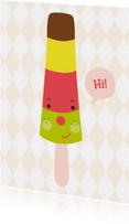 Vakantiekaarten - Kinderkaart-Hi ijsje!-HK