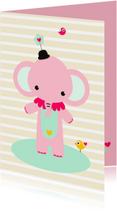 Kinderkaart - Olifantje circus