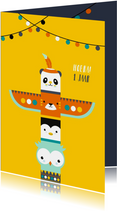 Kinderkaarten - Kinderkaart - Totempaal van dieren