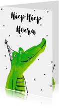 Verjaardagskaarten - Krokodillen verjaardag