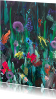 Kunst wilde bloemen paletstukken