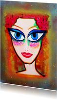 Kunstkaarten - Kunstkaart Blauwe Ogen