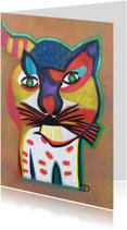 Kunstkaarten - Kunstkaart Kat