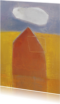 Kunstkaarten - Kunstkaart schilderij huis wolk