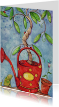 Kunstkaarten - Kunstkaart vrolijke familieboom