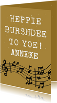 Grappige verjaardagskaart Happy Burshdee To Yoe!