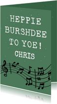 Leuke verjaardagskaart met tekst: Happy Burshdee To Yoe!
