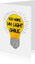 Liefde kaart lampje