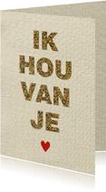 Liefde kaarten - Liefdes kaart glitter