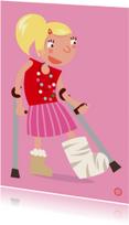 Beterschapskaarten - Meisje met gebroken been