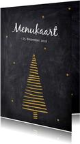 Menukaarten - Menukaart voor de kerst
