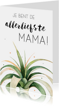 Moederdagkaart: Allerliefste mama!