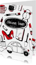 Nieuwe baan tekeningen - vrouw