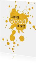 Nieuwjaarskaarten - Nieuwjaar Ga voor goud in 2019